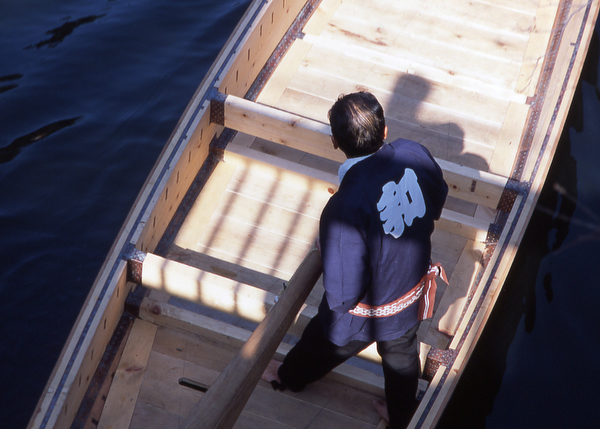 Oarsman in a chokibune boat.