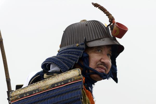 Horseback samurai taking part in the 2013 Somanomaoi