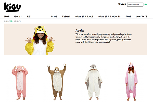 Kigu: Japanese animal onesies